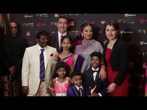Shabana Azami With LION Movie Child Actor Sunny Pawar At AACTA Asia International Award
