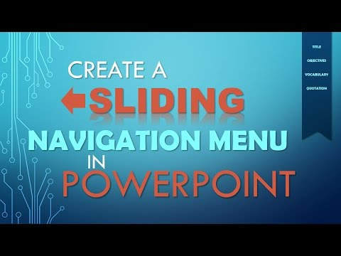 Create A Sliding Navigation Menu In PowerPoint