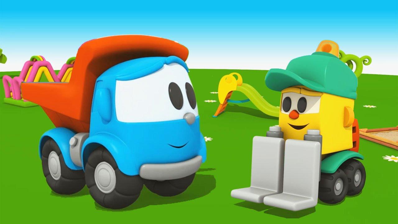 Cartoni animati per bambini camioncino leo junior e suo