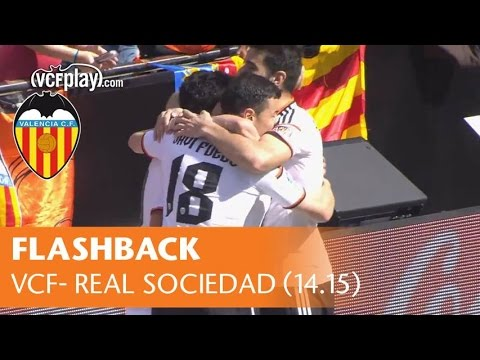 Valencia CF Flashback: Remember all goals against Real Sociedad in Liga 14.15