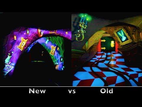 Alice In Wonderland : Side-by-Side Comparison (Before & After 2014 Refurbishment) - Disneyland