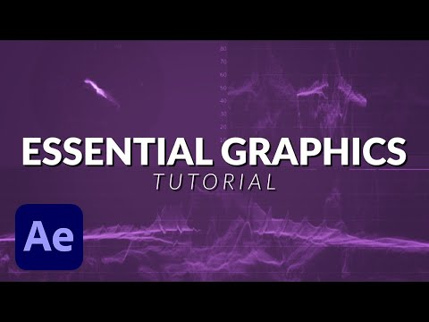 How The NEW Essential Graphics Works in After Effects Tutorial