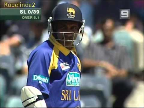 Sanath Jayasuriya INCREDIBLE SIX over cover PERTH