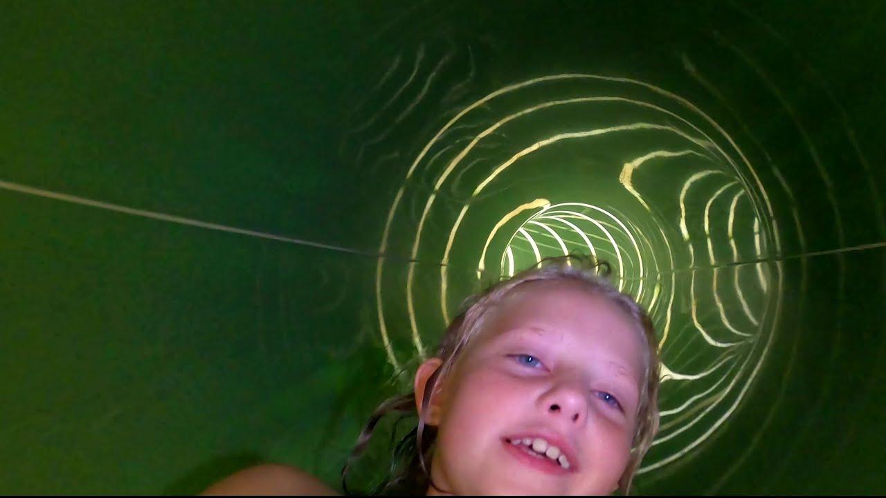 Fun Water Slide. Scary Fast Water Slide