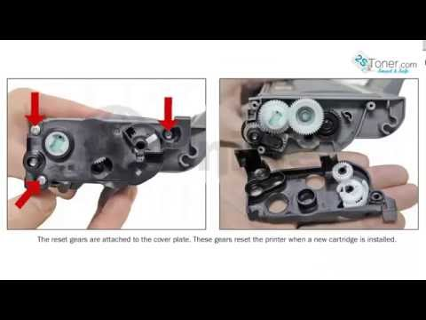 How To Refill Brother TN360 TN-360 Brother TN330 TN-360 Refill Instructions Reset Gear