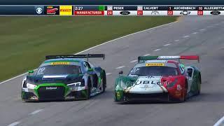Pirelli World Challenge (GT/GTA/GT Cup/GTS/GTSA ) 2018. Race 1 Grand Prix of Road America. Last Laps
