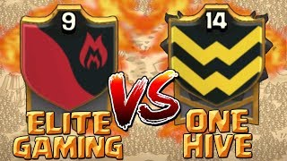 BRING IT ON!! ELITE GAMING vs ONE HIVE - Clash of Clans War! Amazing TH10 & TH9 3 Star Attacks!