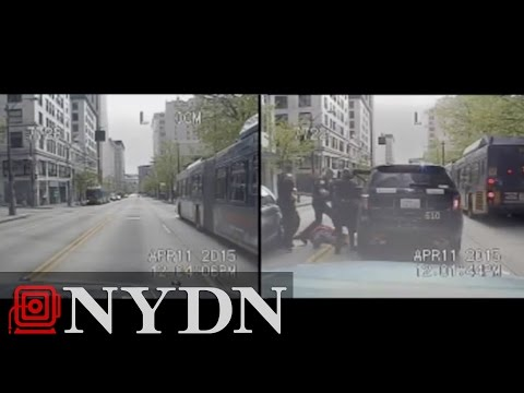 Raw: Dash cam footage of Police SUV being stolen in Seattle