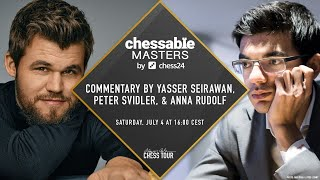 The $150,000 Chessable Masters | Final Day 2 | Peter Svidler | Yasser Seirawan | Anna Rudolf