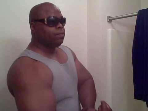 Posing In Gray Tank Top Wife Beater