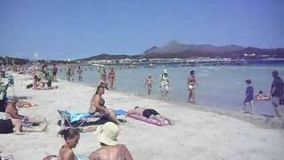 Alcudia Beach View, Majorca, Mallorca, Spain, Balearic Islands , Summer, August