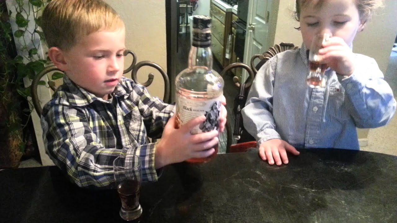 Kids Pretending To Drink Alcohol Like Adults Youtube