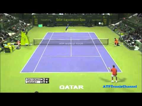 Gasquet Vs Davydenko - Highlights Final Qatar ExxonMobil Open (Doha) 2013