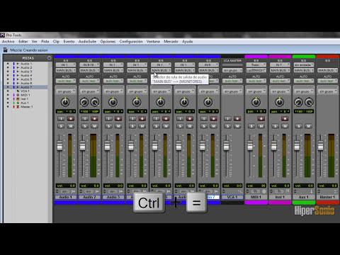 05 - Curso de Pro Tools 10 - Ventana de mezcla y Colores de pista