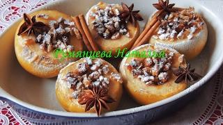 Запеченные фаршированные яблоки. Украинский десерт/Baked stuffed apples. Ukrainian dessert.