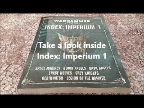 Warhammer 40k 8th edition; Index Imperium book 1