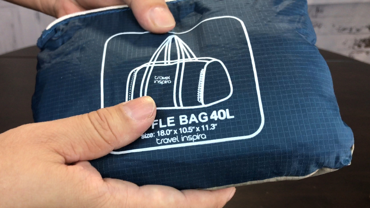 Foldable Packable Travel Lightweight Luggage Duffle Bag by travel inspira  review and giveaway ceab3afad5d19