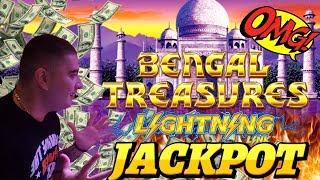 Lightning Link Slot Machine BIG HANDPAY JACKPOT   Lightning Link Bengal Treasures & Happy Lantern