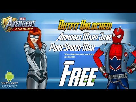 MARVEL: Avengers Academy - FREE Armored Mary Jane & Punk Spider Man Outfit
