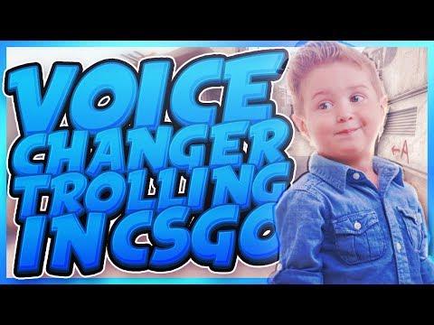 VOICE CHANGER TROLLING IN CS:GO!