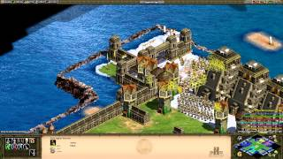 Age of Empires II HD - CBA Hero Bad Attitude - 2 vs 4 How To Win With Shit Civs
