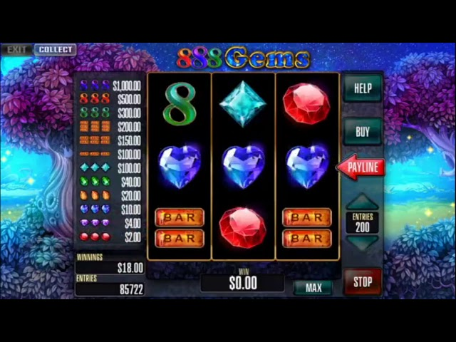 Custom slot machine software. 888 Gems for street operations from Inbet Games