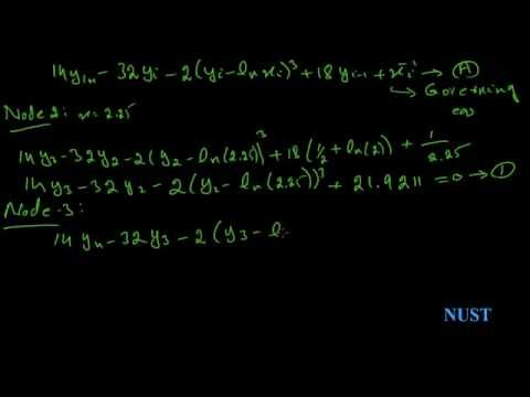 11.2-Finite Difference Method non-linear system (numerical analysis)