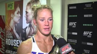 UFC 193: Holly Holm Backstage Interview