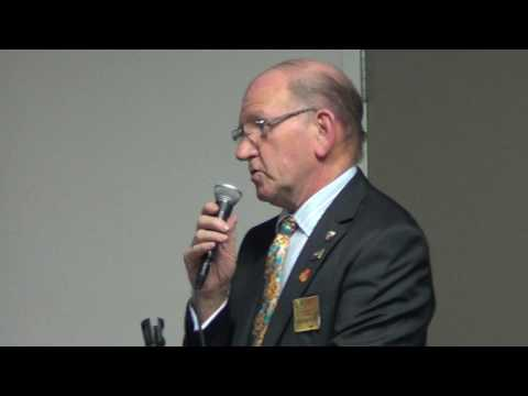 John Lane District Governor elect addresses the Rotary Club of Toowong