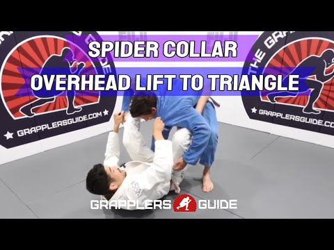 Spider Guard System Course - Spider Collar - Overhead Lift To Triangle - Marcus Johnson