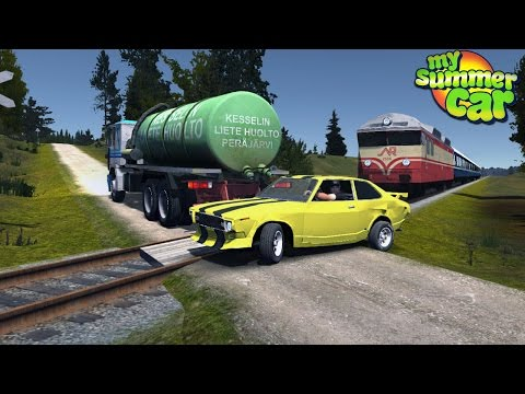 My Summer Car - YELLOW CAR MEETS TRAIN