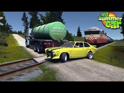 My Summer Car - YELLOW CAR MEETS TRAIN