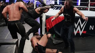 A reunited Shield Triple Power Bomb Randy Orton through the announce table: WWE Payback 2015