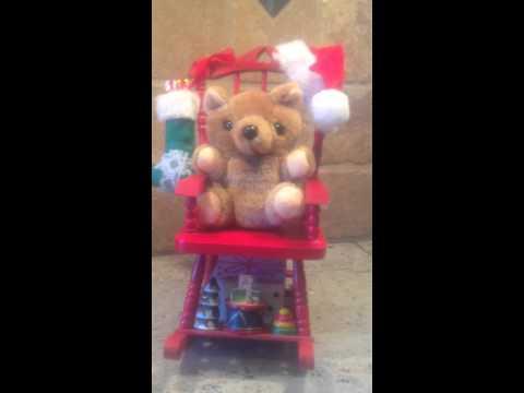 Rocking Chair Teddy Bear Musical Christmas -- Ebay: duoofgreatdiscoveries