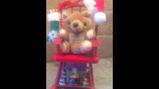 Rocking Chair Teddy Bear Musical Christmas -- Ebay: Duoofgreatdiscoveries