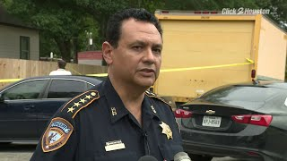 Harris County Sheriff Ed Gonzalez provides updates after homeowner shoots intruder to death