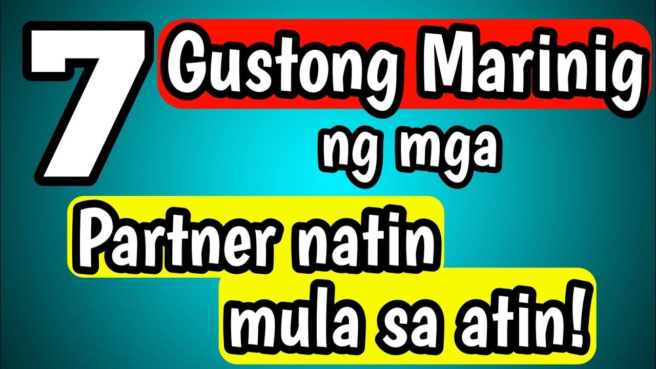 Mga Bagay na Gustong Marinig sayo ng Partner mo!