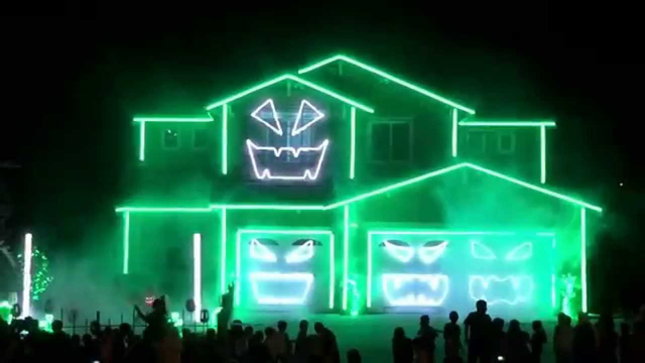 halloween house michael jackson thriller halloween light house hd youtube - Halloween Lights Thriller
