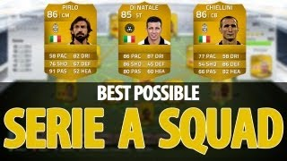 fifa 14 best possible serie a team worth 150 000 coins