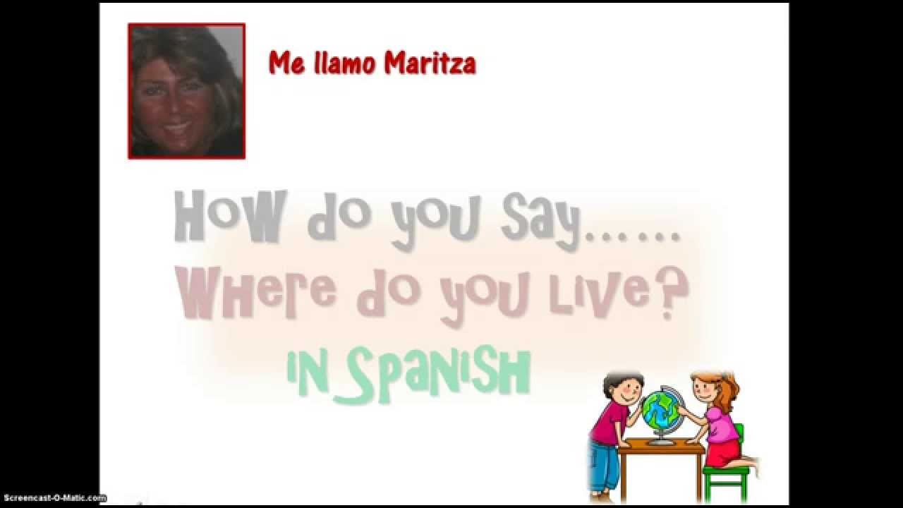 How Say Where Are You Spanish