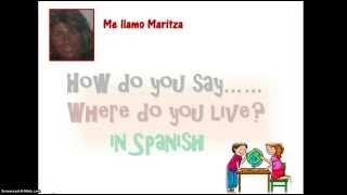 How Do You Say Where Do You Live In Spanish