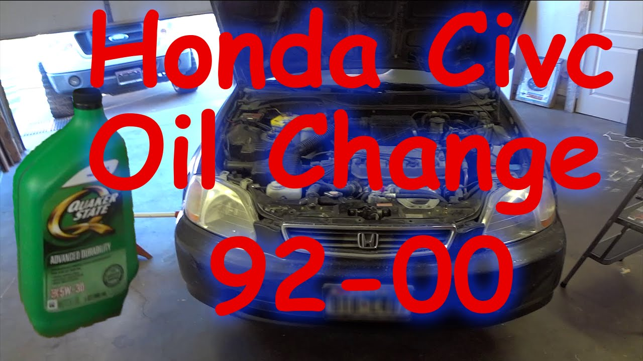 change oil  honda civic oil youtube