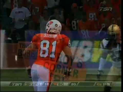 Jarious Jackson touchdown pass to Geroy Simon vs. Winnipeg