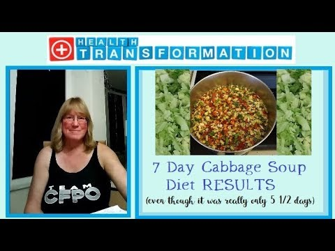 7 Day Cabbage Soup Diet Results Some Lasting Changes Youtube