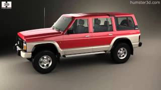 nissan patrol ae spec with hq interior 2014 3d model by