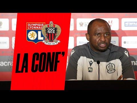 Patrick Vieira Et Stanley Nsoki En Conf' Avant Lyon - Nice