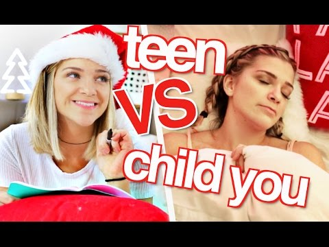 High School You VS Child You The Night Before CHRISTMAS!