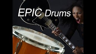 Super Epic Dramatic Drums Music - Intense TV Commercial Background Drumming