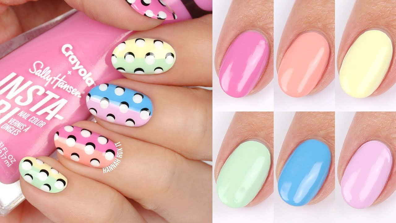 3d Dot Nail Art Sally Hansen X Crayola Spring Fling Swatches