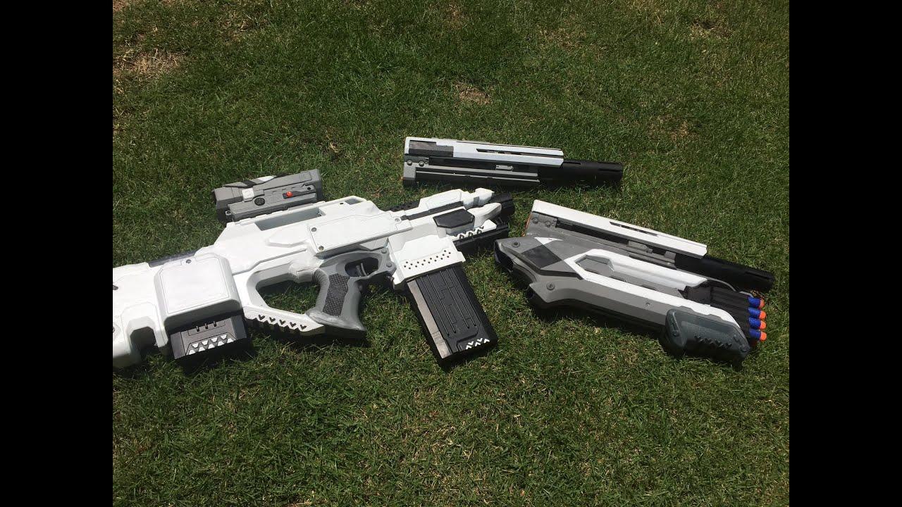 Nerf Mod: The Oblivion Rifle w/ Modular Attachments - YouTube  Nerf Mod: The O...